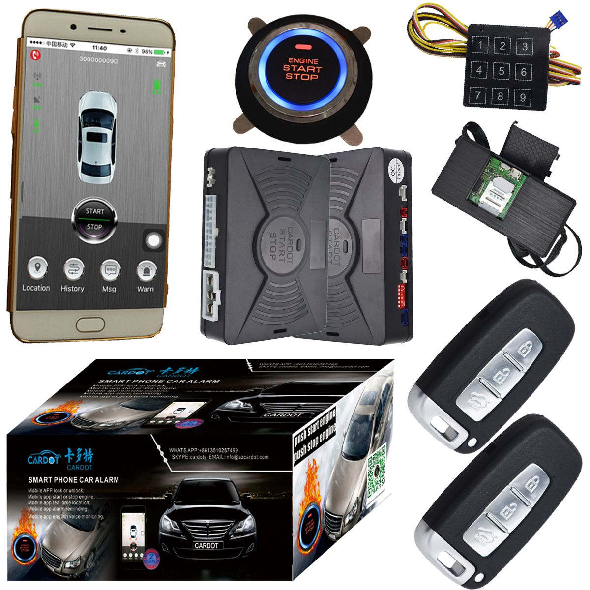 auto smart key system with engine push button start