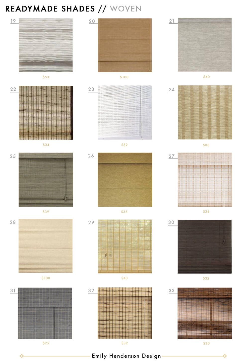 48 Affordable Ready Made Woven Window Shades To Fit Most Standard Widows