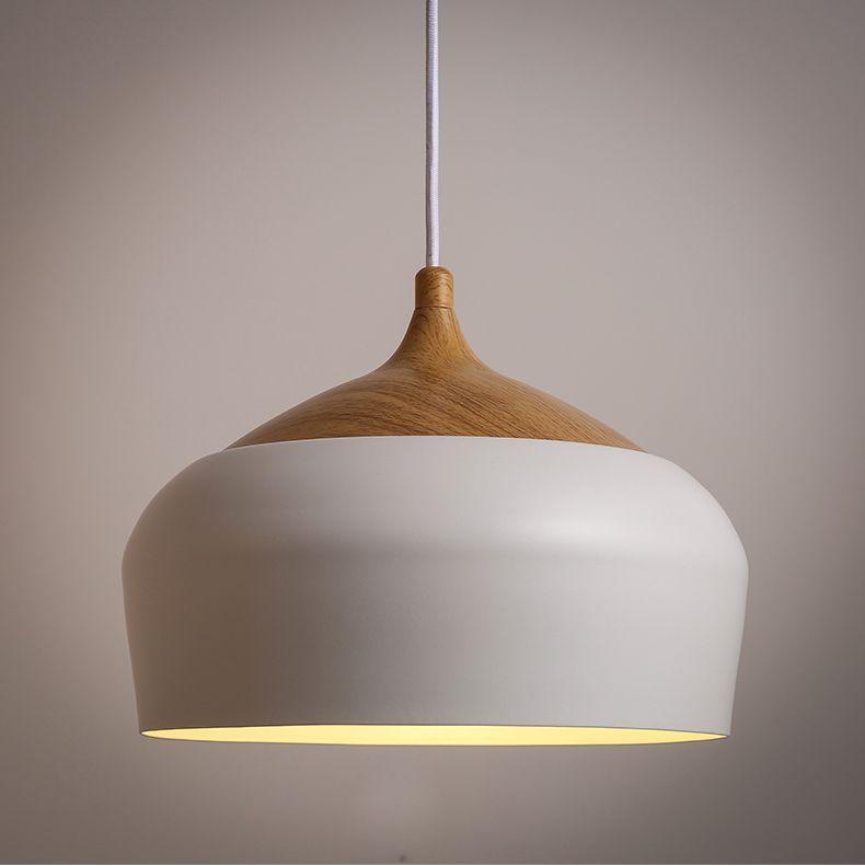 Moderne nordic hout hanglamp moderne eenvoudige licht met edison ...