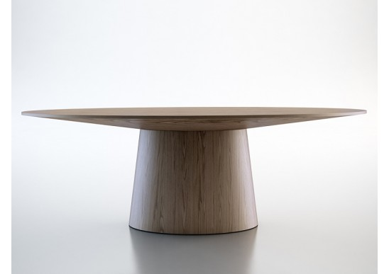 Sultan Walnut Modern Round Dining Table Round Dining Table