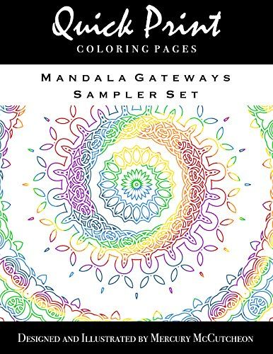Mandala Gateways Sampler Set Quick Print Coloring Pages Series