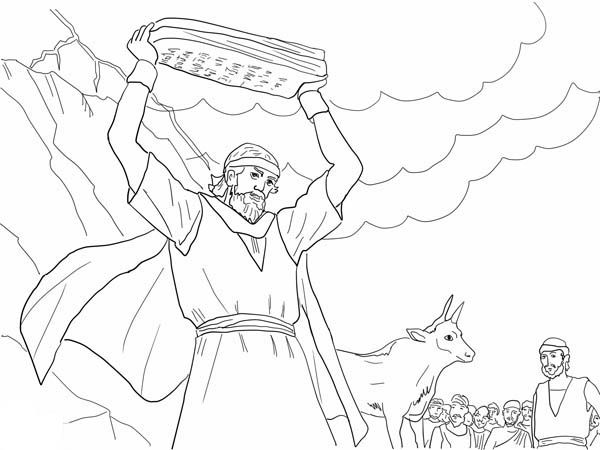 Moses Strikes The Rock Colouring Pages Page 2 Shablony Podelki