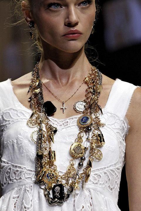 Sasha Pivovarova at Dolce and Gabbana spring/summer 2011.