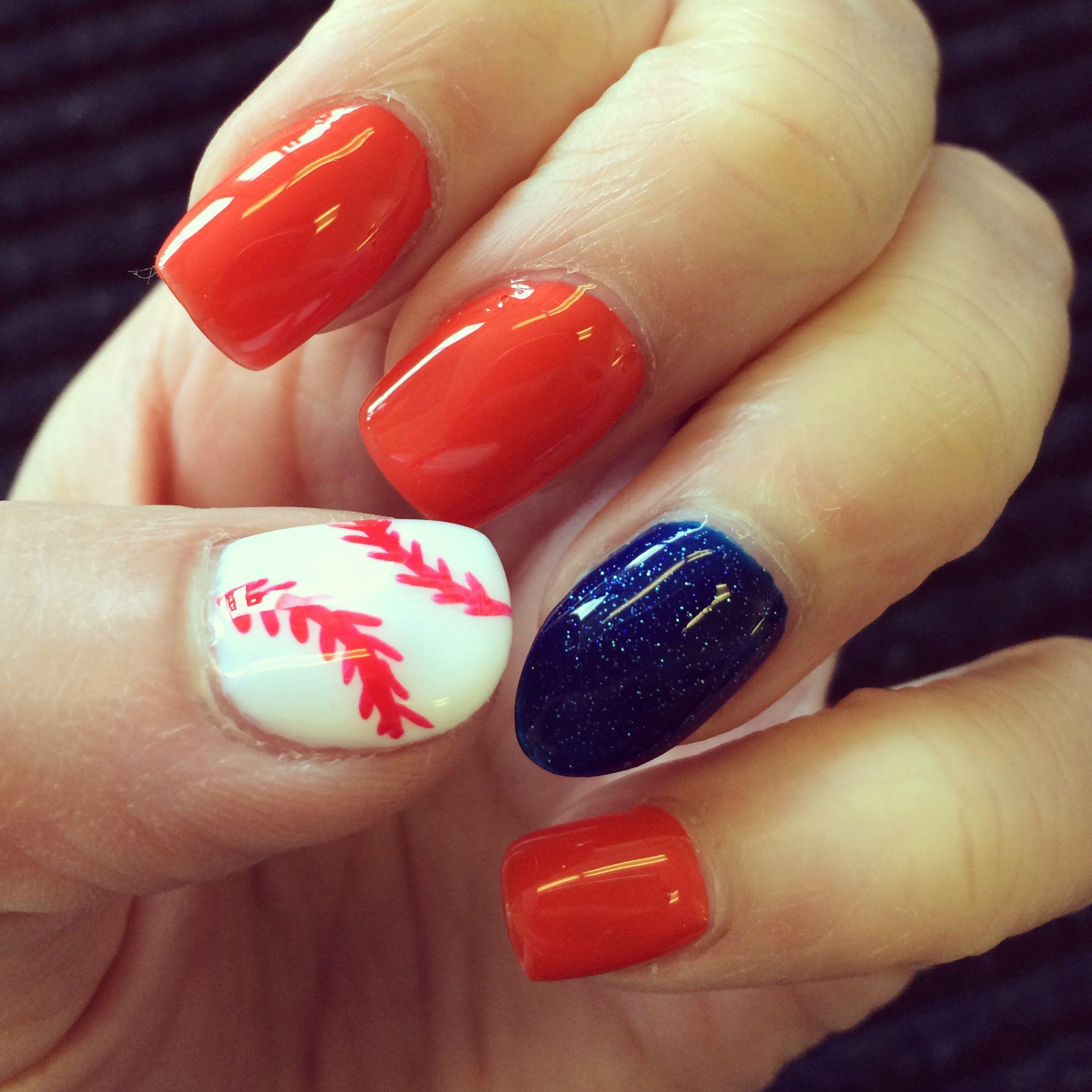 Detroit Tigers baseball nail art design | Fashion | Pinterest ...