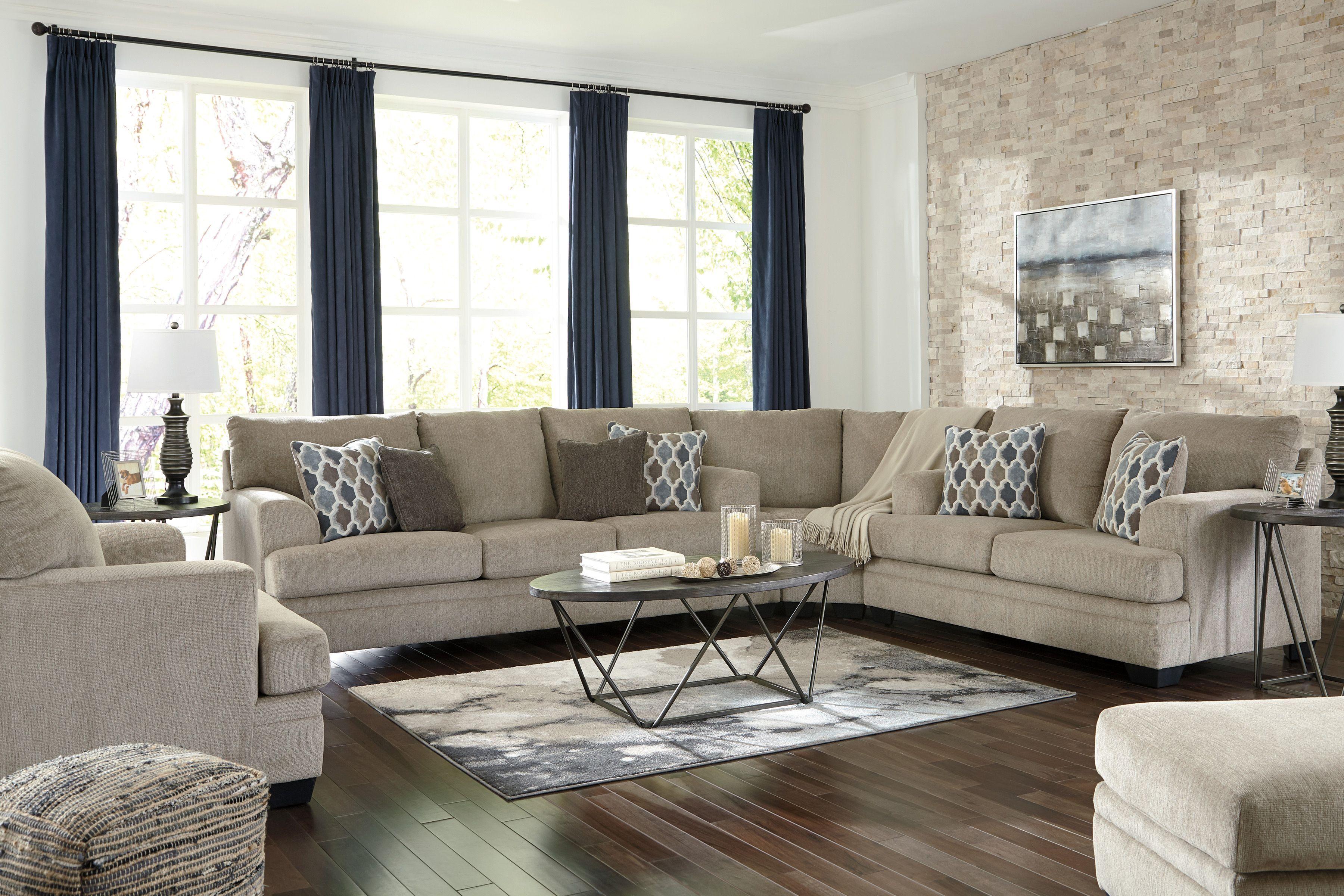 Dorsten Sisal Raf Sectional Asl 7720538 77 35 In 2020 Living Room Sets Living Room Diy Living Room Furniture