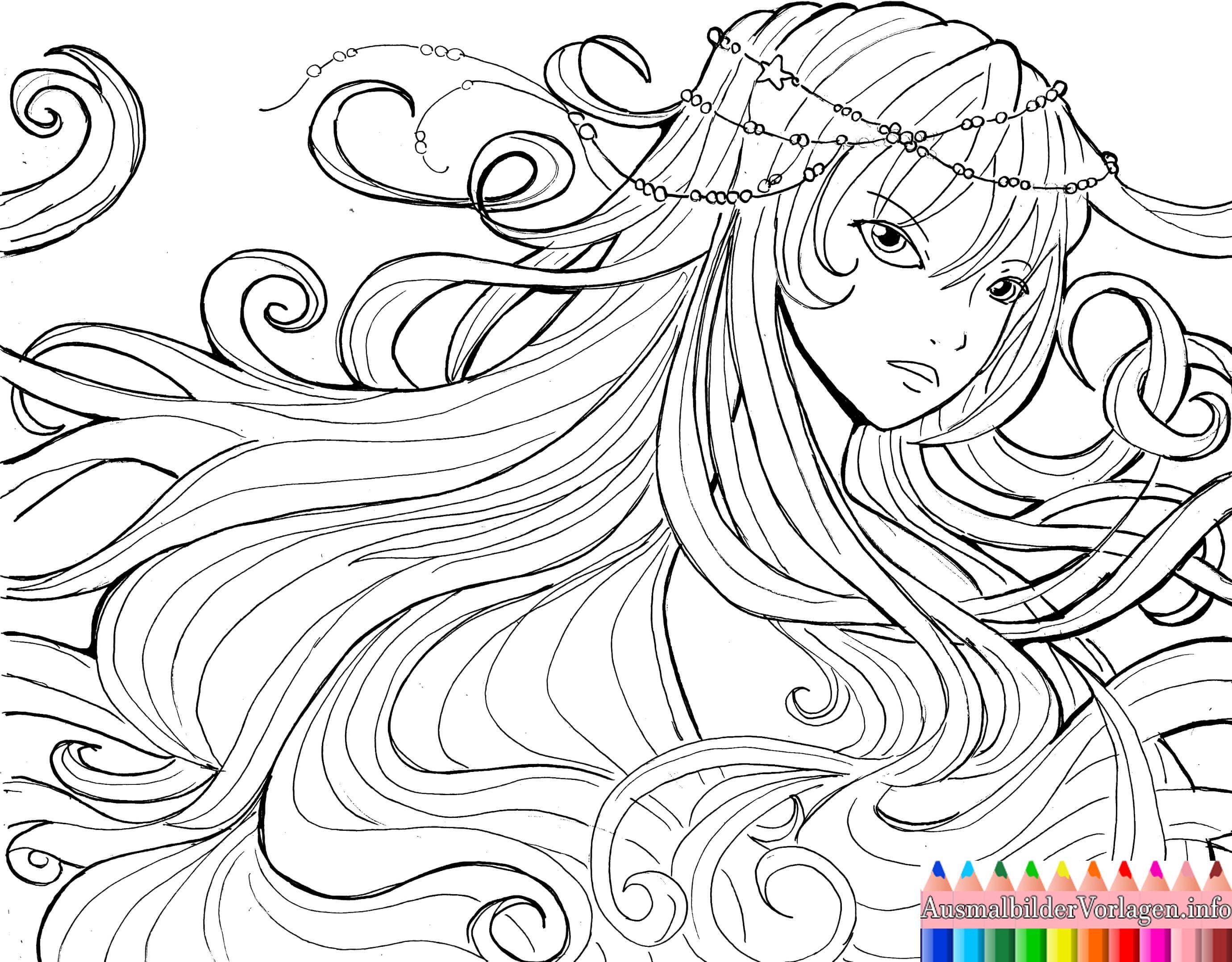 Malvorlagen Anime Engel Coloring and Malvorlagan