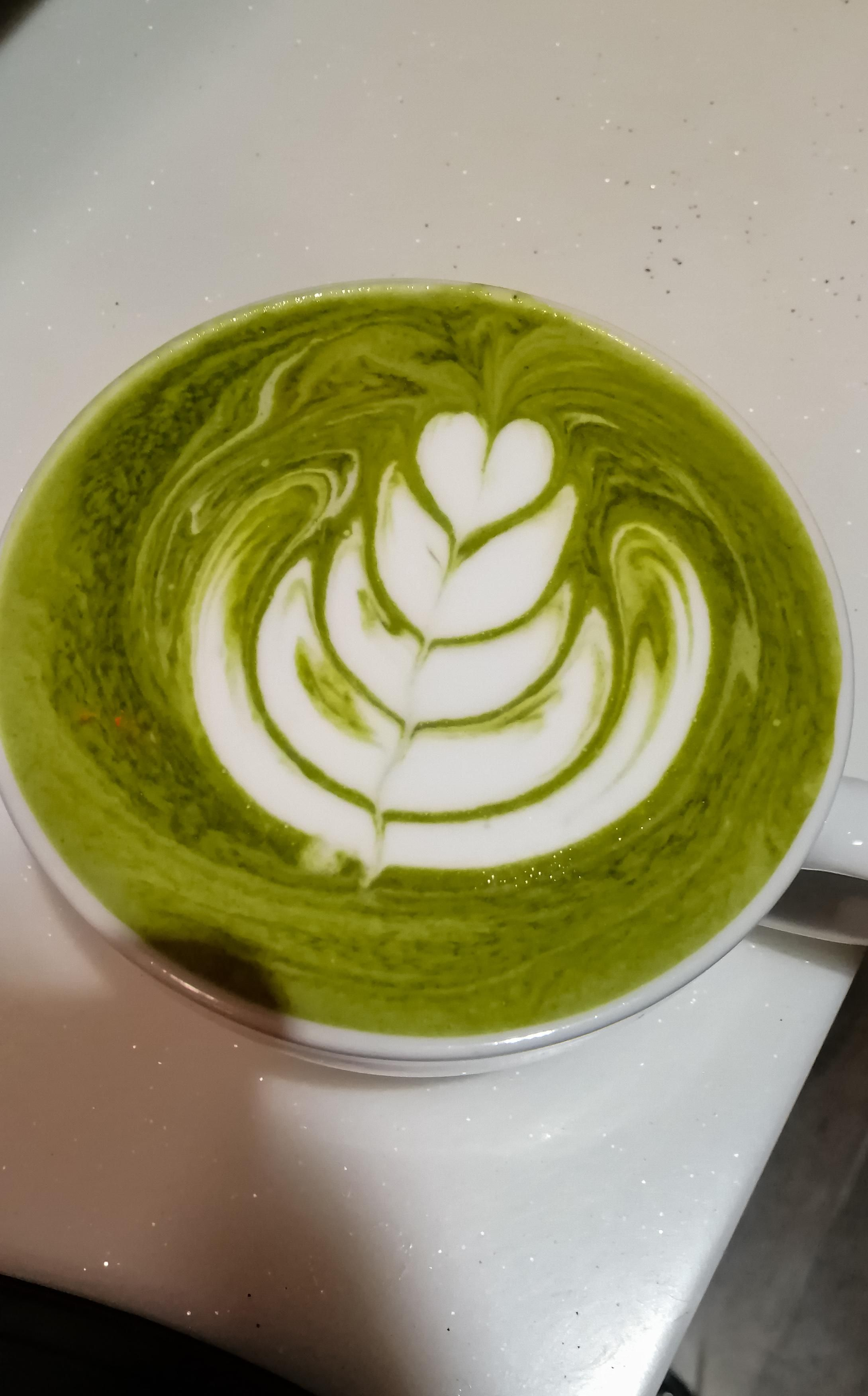 Started A Part Time Job As A Barista A Month Ago My Proudest Pour In A Matcha Latte So Far Matcha Latte Latte Coffee Addict