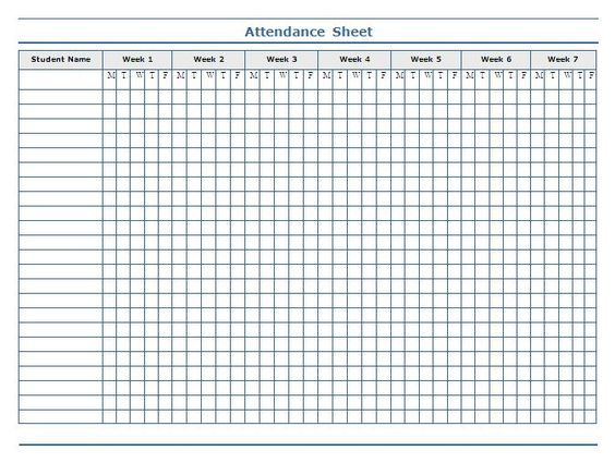 Classroom Charts Printable | Guidelines For Attendance Sheet  Attendance Sheet For Students