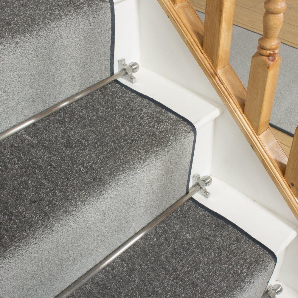 Best Festival L Grey Plain Stair Runner With Images Carpet 640 x 480