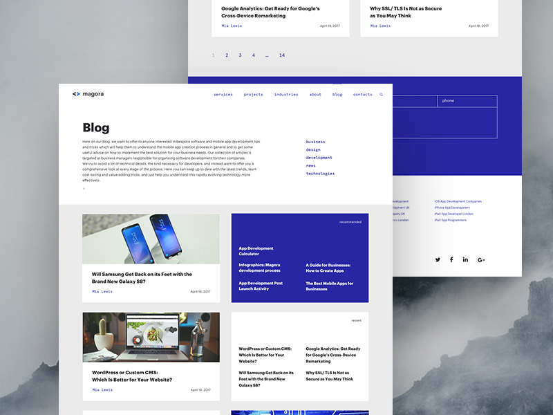 Blog Page Joomla Templates Portfolio Web Design Web Design