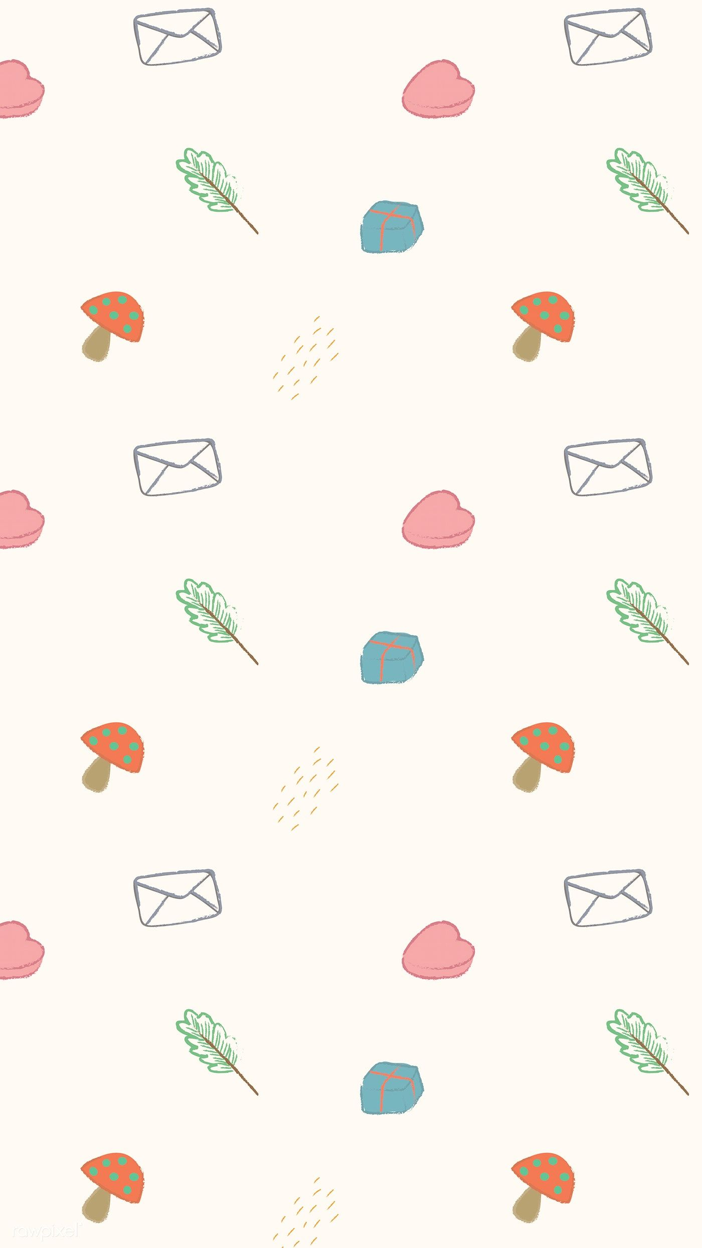Download Premium Vector Of Cute Autumn Doodle Patterned Mobile Screen Doodle Patterns Wallpaper Iphone Cute Handphone Wallpaper