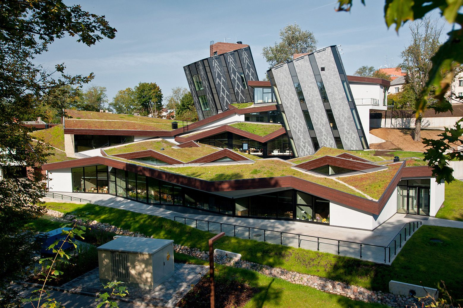 Gallery Zeimuls Centre Of Creative Services Of Eastern Latvia Saals Architecture 1 Architecture Green Roof Roof Architecture