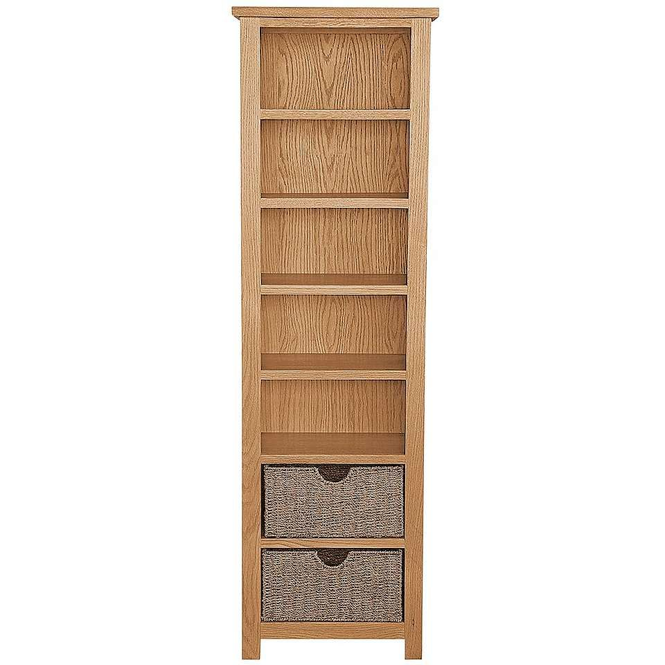 Dunelm Sidmouth Tall Bookcase in Oak Brown (Large) | Canastilla y Mimbre