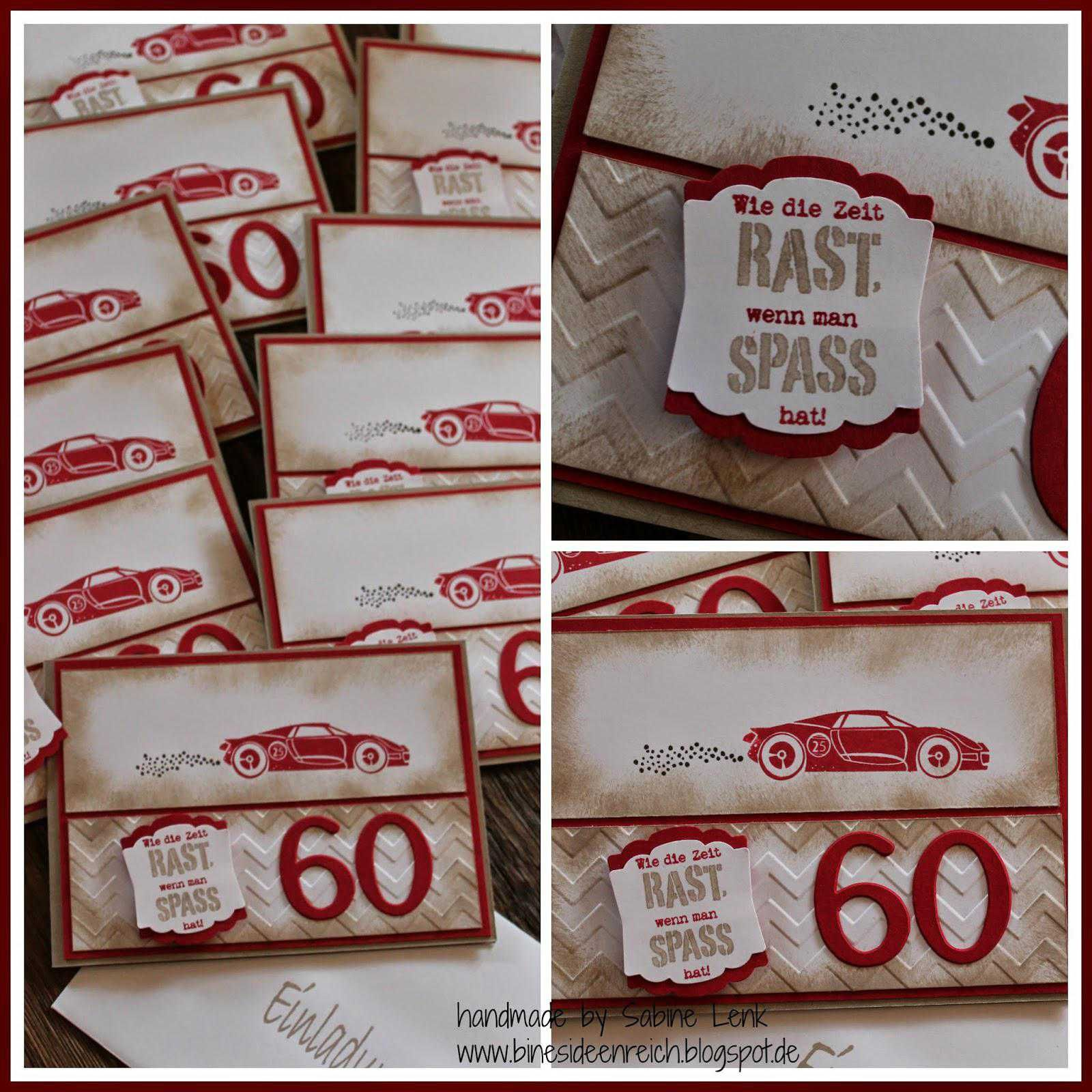 Tischkarten 60 Geburtstag Basteln