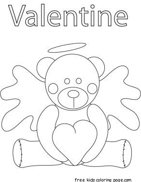out valentines day coloring pages | bear, coloring pages, fargelegge tegninger, kids, pooh ...