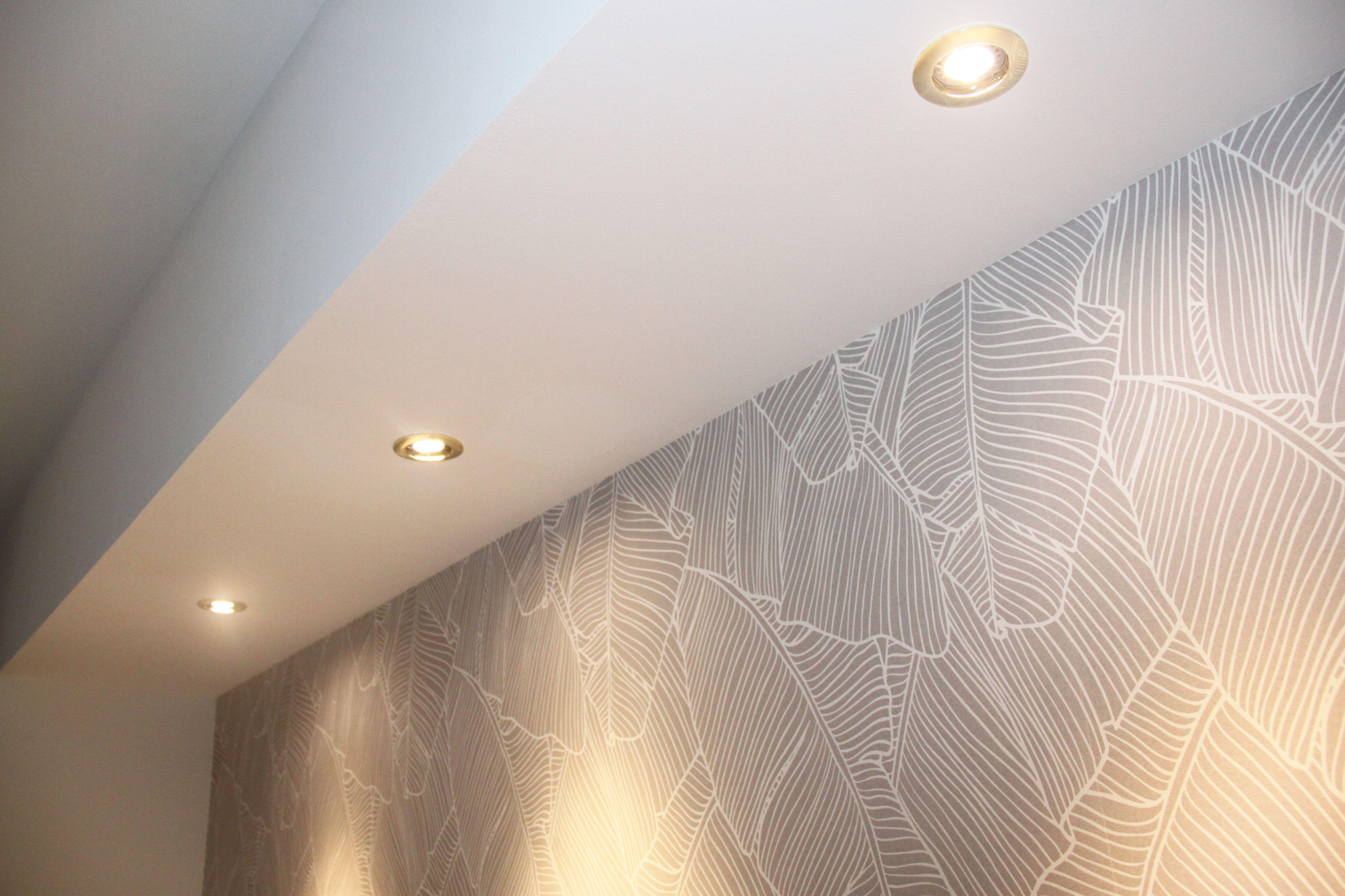 Ruban Caisson Placo Avec Spots Intgrs En Faux Plafond Au