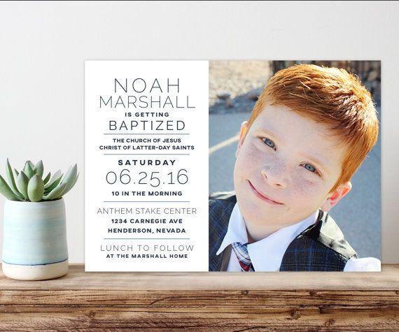 Lds baptism announcement, baptism invitation, printable baptism ...