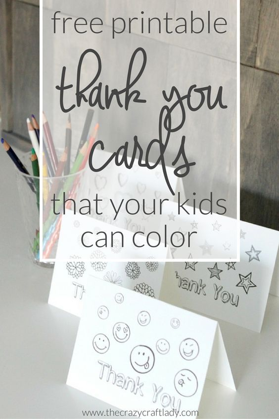 Printable Thank You Card Coloring Sheets | Pinterest