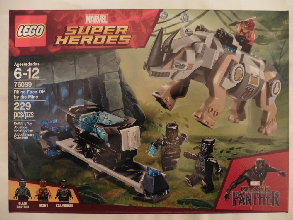 LEGO Marvel Super Heroes Rhino Face-Off By the Mine 229 Pcs 76099 Ages 6-12