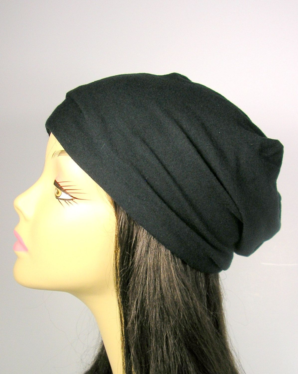 0b33a7ecd45 Custom Hats for Hair Loss Cancer Hats 100% Cotton Slouchy Hat