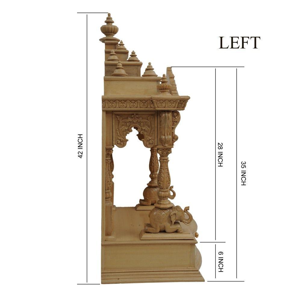 Teak Wood Puja Mandapam for Home - 200812_0917 - Teak Wood Temple ...