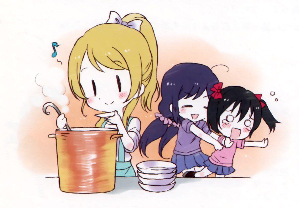 Eli Cooking Love Live feat. Eli, Nozomi and Nico