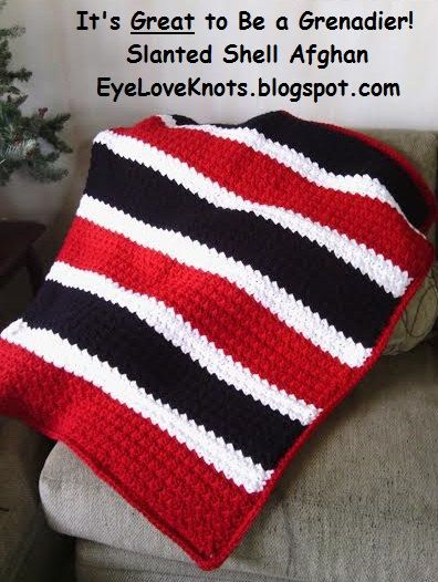 CROCHET PATTERN - It\'s Great to Be a Grenadier Slanted Shell Afghan ...