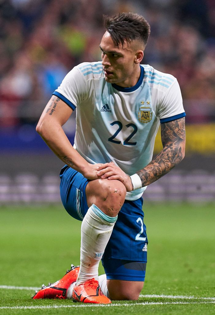 Lautaro Martinez of Argentina reacts during the