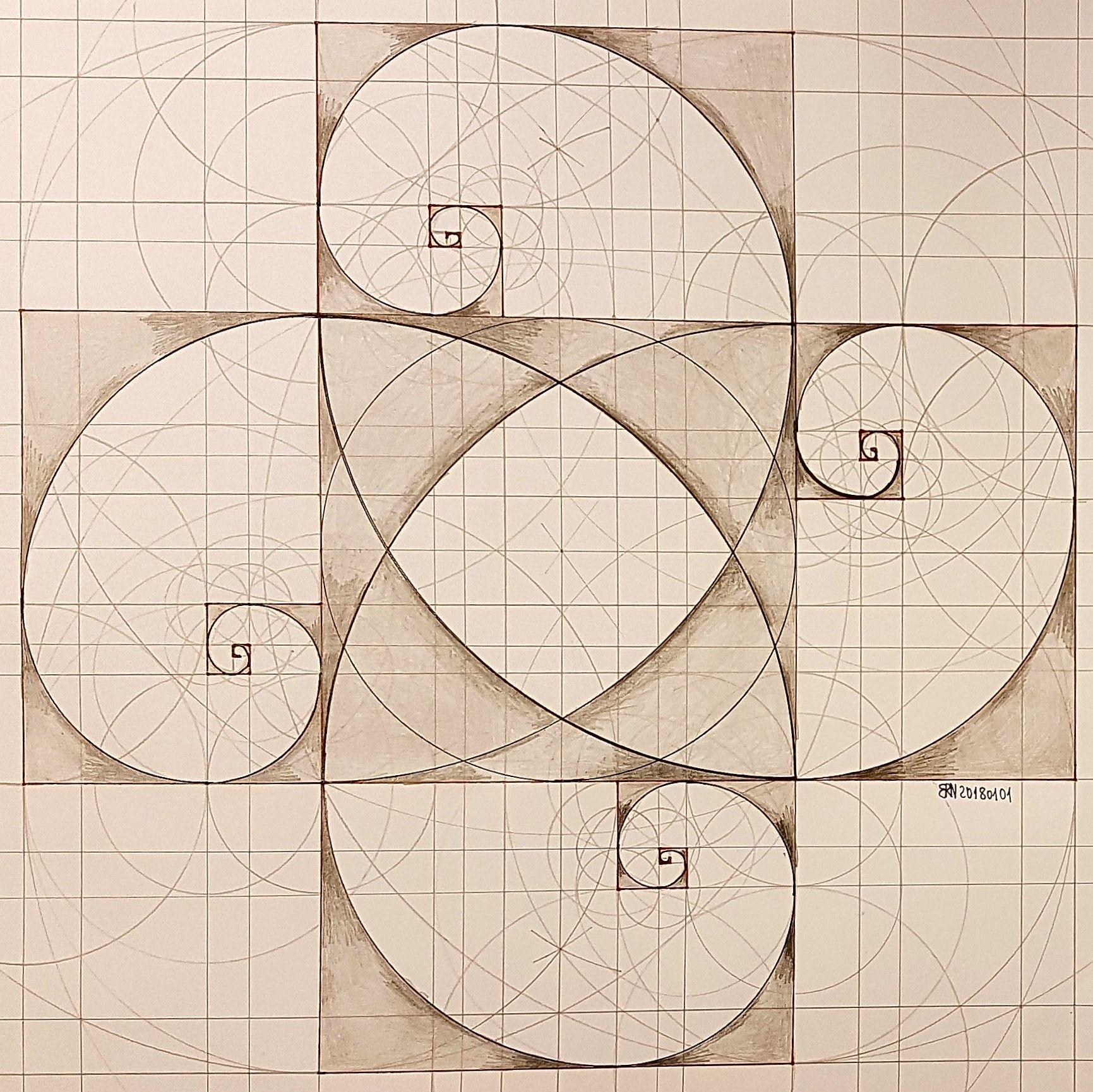 fractal #geometry #symmetry #handmade #mathart #regolo54 #escher ...
