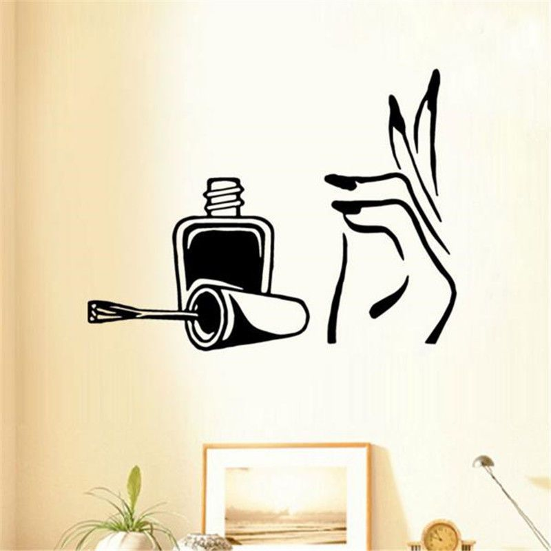 Nail Polish Beauty Salon Girls Bedroom Wall Art Stickers Decals Home Room Decor