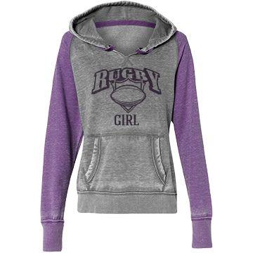 Rugby girl | Custom trendy rugby hoodie.