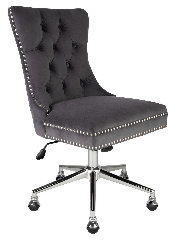 Argos home princess velvet handleback office chair grey