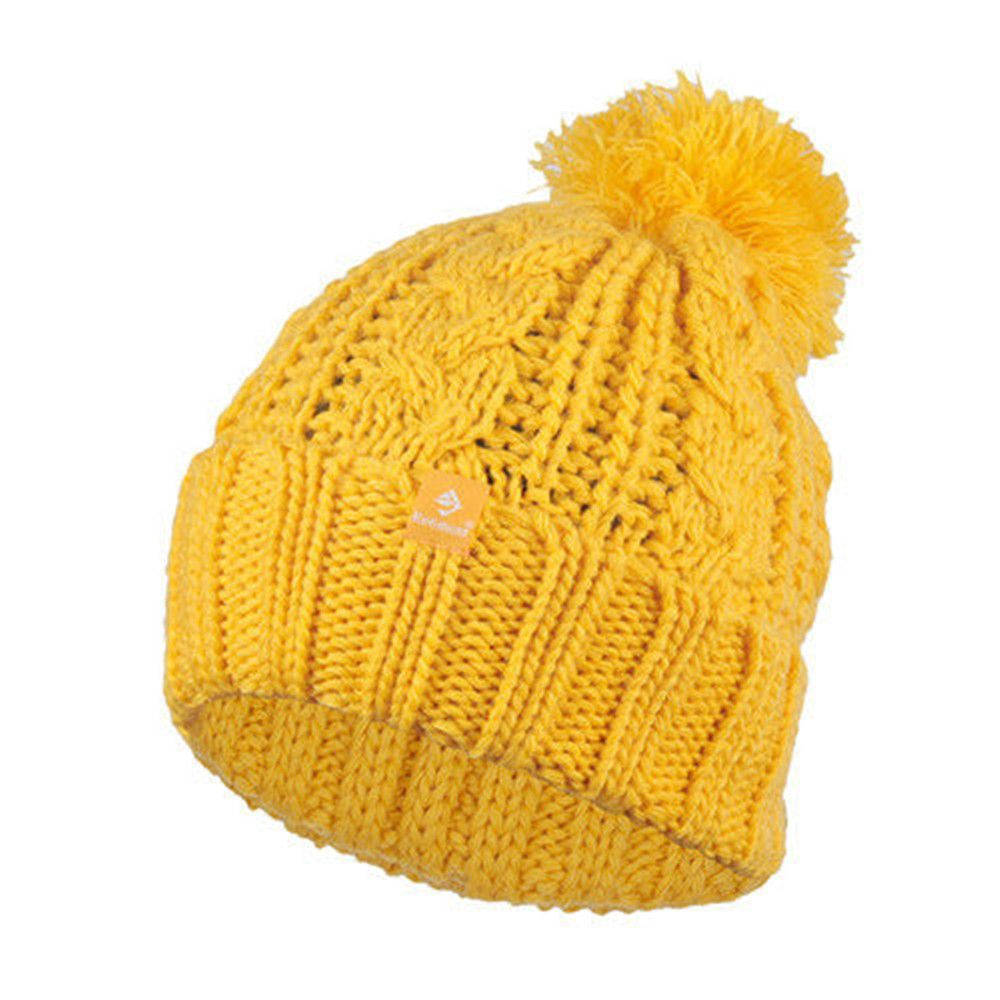 Mustard Yellow Knit Beanie ee3e1a4bb49