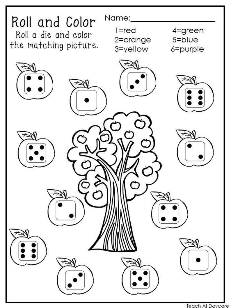 20 Printable Roll And Color Worksheets Numbers 1 6 Etsy Color Worksheets Numbers Kindergarten Color Worksheets For Preschool [ 1059 x 794 Pixel ]