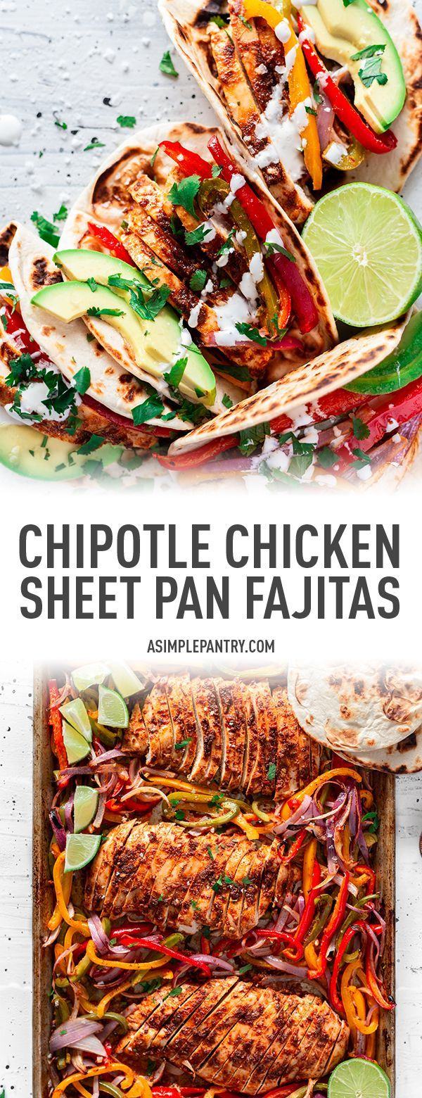 Chipotle Sheet Pan Chicken Fajitas