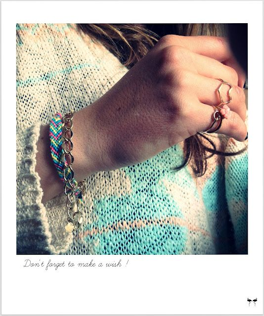 Friendship bracelet & chain DIY