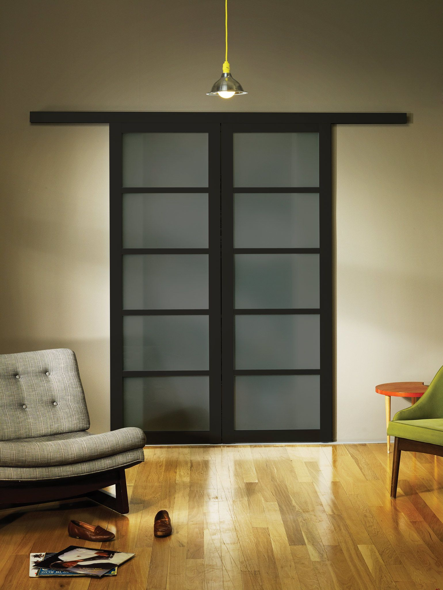 Smoked frosted glass wall slide doors the sliding door co