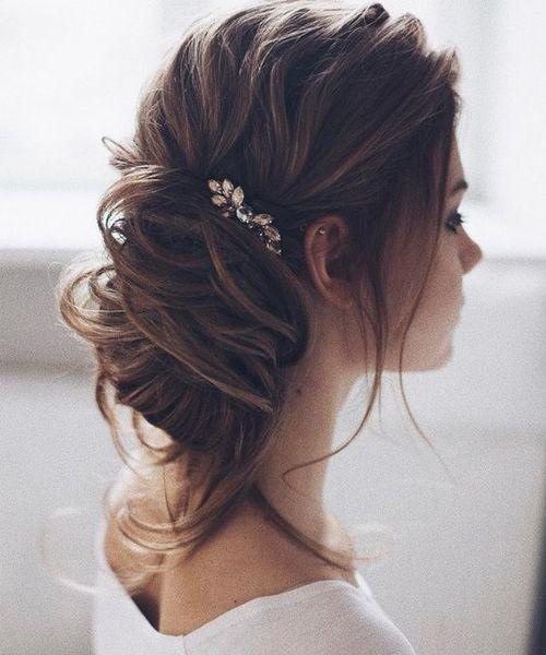 Low Bun Hairstyles For Weddings: New Stylish Loose Low Bun Wedding Hairstyles 2017