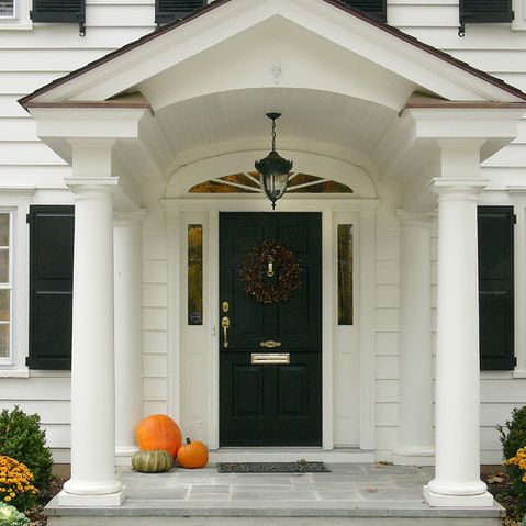 Traditional Portico Design Ideas, Pictures, Remodel And Decor