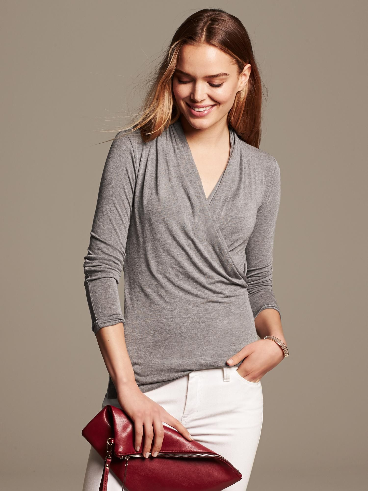 Draped Jersey Top Banana Republic Clothes for women