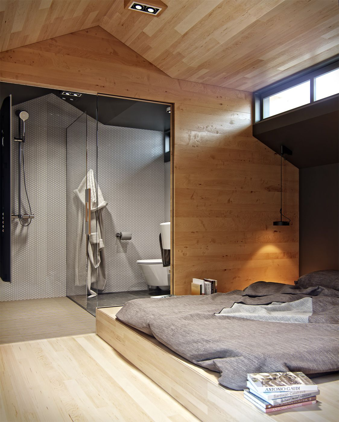 Loft bedroom with bathroom  Tiny Loft Space Apartment  Home u Rooms  Pinterest  Tiny loft