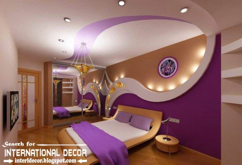 Contemporary Pop False Ceiling Designs For Bedroom 2015