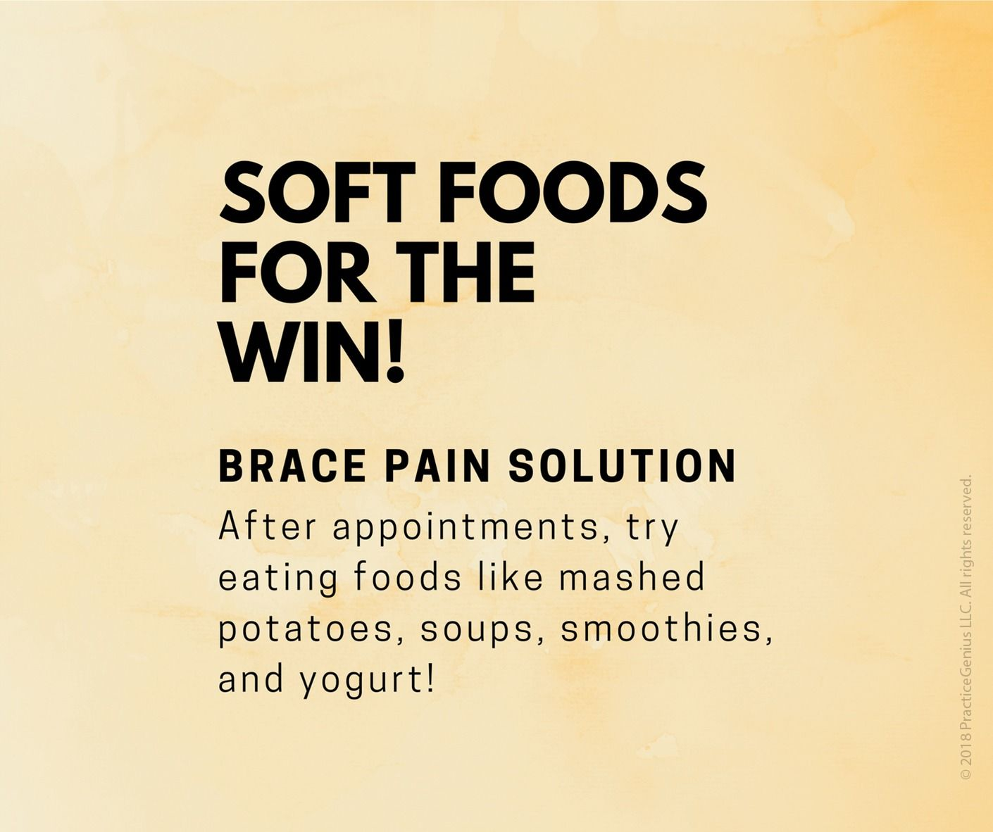 Pin by Paul Carpinello on Bunch of braces. Soft foods