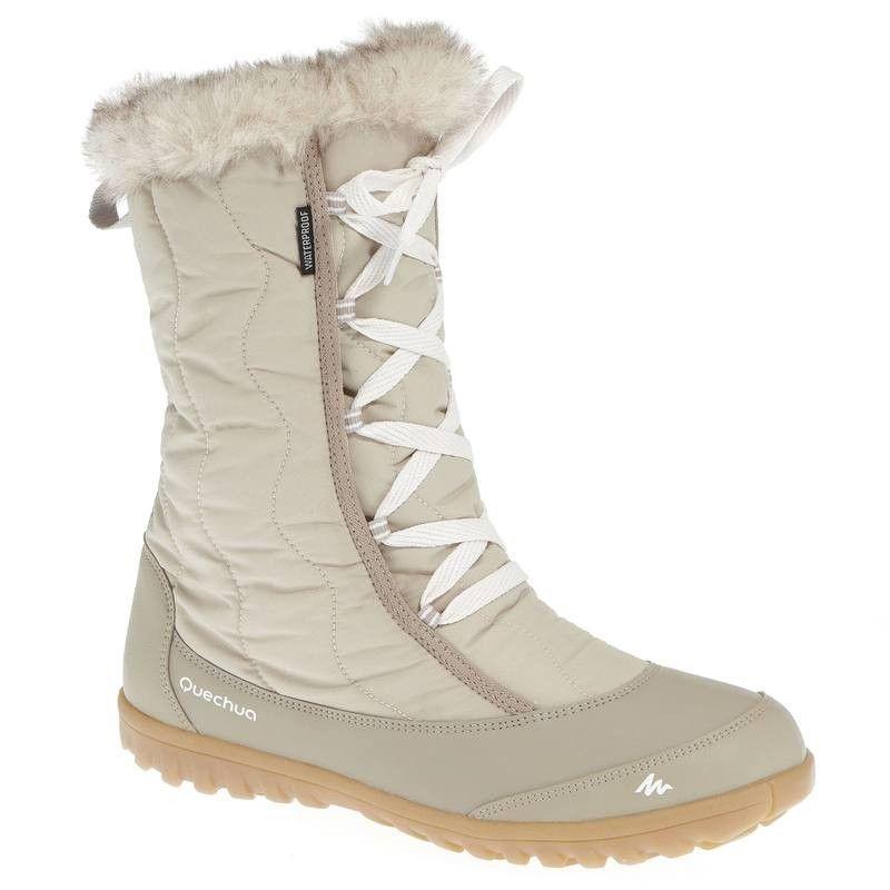 c34feb14a4 Botas de senderismo nieve mujer x-warm cordones azul. Arpenaz 500 Warm  Women s Snow Boots - Beige