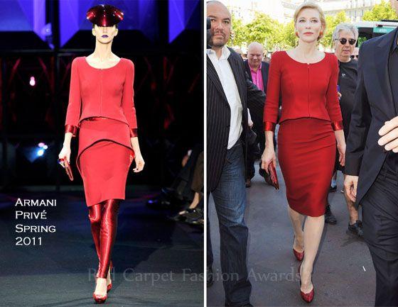 Cate Blanchett In Armani Privé – Front Row @ Armani Privé