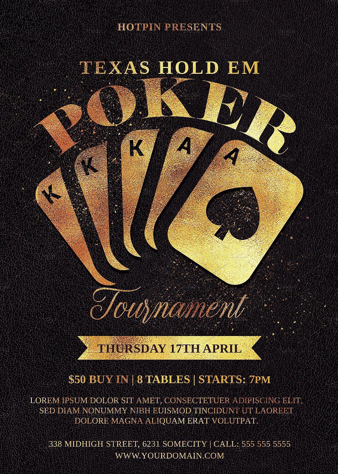 Poker Flyer Template Flyer Poker Flyer Template