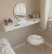 Photo of This shelf !! Dressing table – EKBY wall shelf by ikea with ghost chair – home decorating ideas
