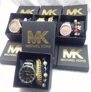 5b205710130 Super Promoção comprar Replica de Relógio Michael Kors MK primeira linha  dourados
