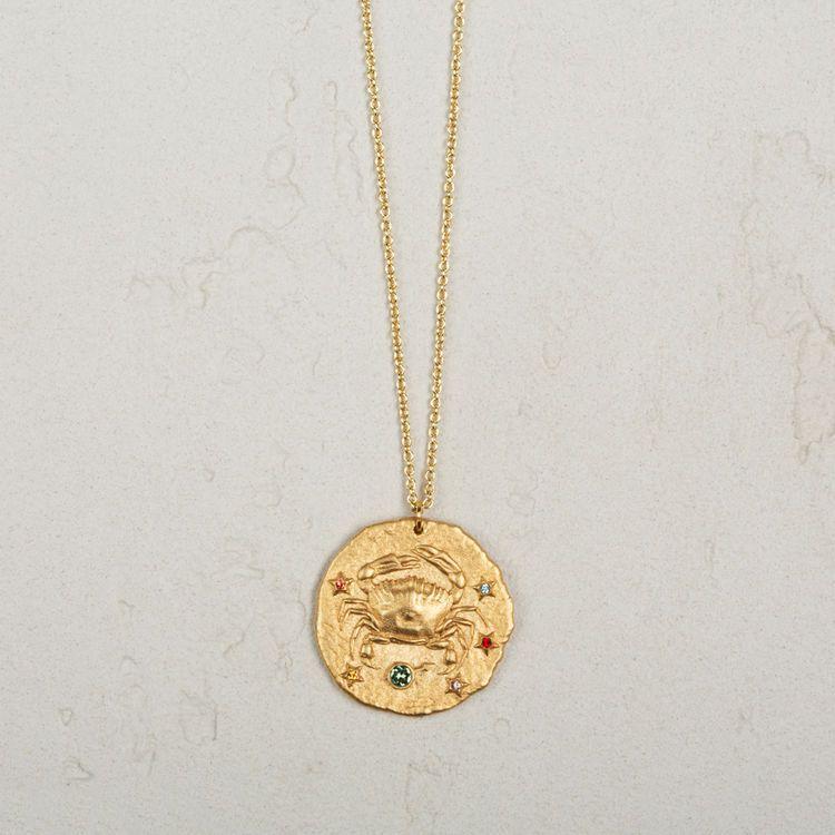 Cancer collier signe du zodiaque cancer bijoux maje maje cancer aloadofball Image collections