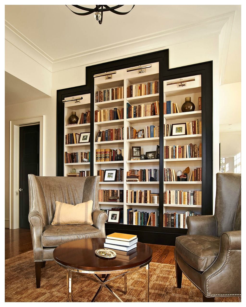 bookshelves study at ncstate chancellor\'s house design lines ltd ...
